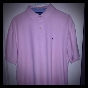 Solid pink Tommy Hilfiger polo